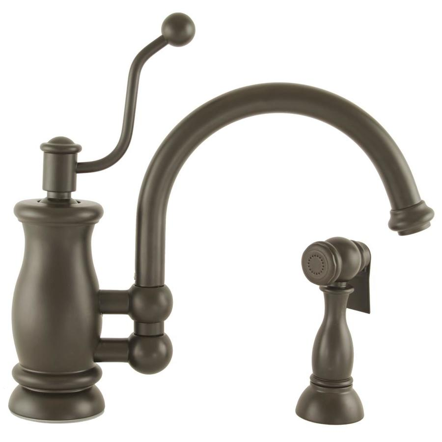 ... Oil-Rubbed Bronze High-Arc Kitchen Faucet with Side Spray at Lowes.com