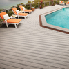 Trex Transcend Gravel Path Groove Composite Deck Board (Actual: 0.94-in x 5.5-in x 16-ft)