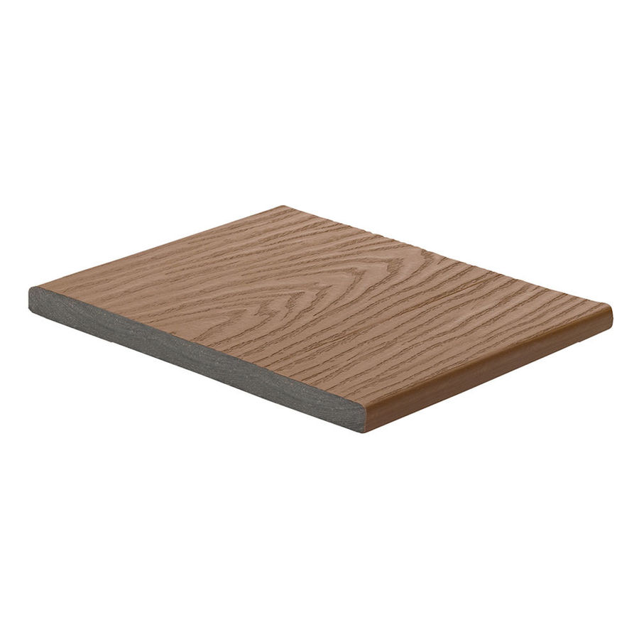 Shop trex saddle composite deck trim board common 1 in x for Capped composite decking prices
