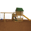 PlayStar Great Escape Bronze Residential Wood Playset with Swings