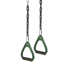 PlayStar Commercial Grade Green and Black Gym Rings