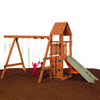 PlayStar All Star Silver Wood Playset with Swings