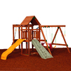 PlayStar Champion Silver Expandable Residential Wood Playset with Swings