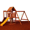 PlayStar Champion Bronze Expandable Residential Wood Playset with Swing