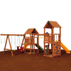 PlayStar Super Star Silver Wood Playset with Swings