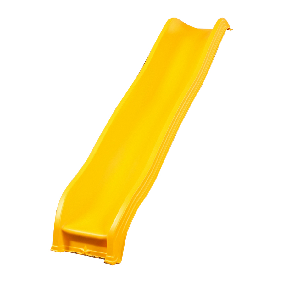 shop playstar giant scoop wave yellow slide at lowes com