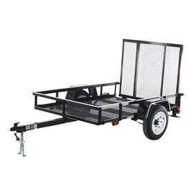 Carry-On Trailer 4-ft x 6-ft Wire Mesh Utility Trailer with Ramp Gate