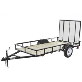 Carry-On Trailer 5-ft x 10-ft Treated Lumber Utility Trailer with Gate
