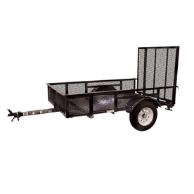 Carry-On Trailer 5-ft x 8-ft Wire Mesh Utility Trailer with Ramp Gate