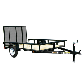 Carry-On Trailer 5-ft x 8-ft Treated Lumber Utility Trailer with Ramp Gate