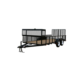 Carry-On Trailer 6-ft x 16-ft Treated Lumber Utility Trailer with Ramp Gate