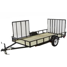 Carry-On Trailer 6-ft x 12-ft Treated Lumber Utility Trailer with Gate
