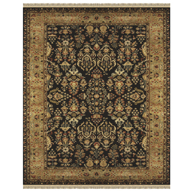 Alegra 8-ft x 11-ft Rectangular Black Floral Area Rug