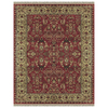 Alegra Rectangular Red Floral Tufted Wool Area Rug (Common: 8-ft x 10-ft; Actual: 8-ft x 11-ft)