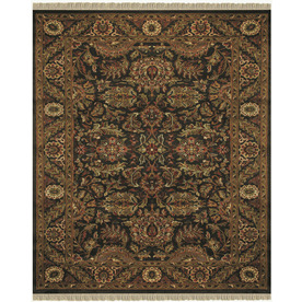 Easton 5-ft 6-in x 8-ft 6-in Rectangular Tan Border Area Rug
