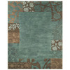  Madison 8-ft x 11-ft Rectangular Blue Border Area Rug
