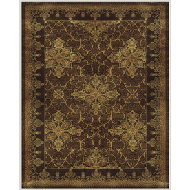 Sheldon Rectangular Brown Border Woven Wool Accent Rug (Common: 3-ft x 4-ft; Actual: 30-in x 48-in)