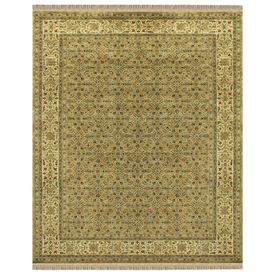 Alegra Rectangular Yellow Floral Tufted Wool Area Rug (Common: 8-ft x 10-ft; Actual: 8-ft x 11-ft)