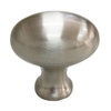 Style Selections Satin Nickel Oval Cabinet Knob