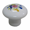 Style Selections White Round Cabinet Knob