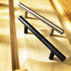 Style Selections 96mm Center-to-Center Matte Black Bar Cabinet Pull