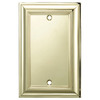 allen + roth 1-Gang Polished Brass Blank Metal Wall Plate