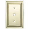 allen + roth 1-Gang Polished Brass Coax Metal Wall Plate