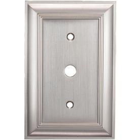 allen + roth 1-Gang Satin Nickel Coax Metal Wall Plate