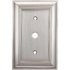 allen + roth 1-Gang Satin Nickel Coax Metal Wall Plate