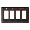 allen + roth 4-Gang Oil Rubbed Bronze Decorator Rocker Metal Wall Plate