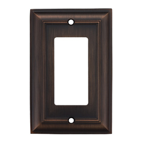 allen + roth 1-Gang Oil Rubbed Bronze Decorator Rocker Metal Wall Plate