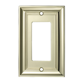 allen + roth 1-Gang Polished Brass Decorator Metal Wall Plate