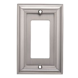 allen + roth 1-Gang Satin Nickel Decorator Rocker Metal Wall Plate