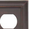 allen + roth 1-Gang Oil-Rubbed Bronze Standard Duplex Receptacle Metal Wall Plate