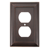 allen + roth 1-Gang Oil-Rubbed Bronze Standard Duplex Receptacle Metal Wall Plate