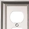 allen + roth 1-Gang Satin Nickel Standard Duplex Receptacle Metal Wall Plate