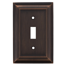 allen + roth 1-Gang Oil Rubbed Bronze Standard Toggle Metal Wall Plate
