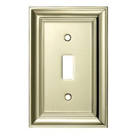 ... roth 1-Gang Polished Brass Standard Toggle Metal Wall Plate Z1768T-PB
