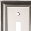 allen + roth 1-Gang Satin Nickel Standard Toggle Metal Wall Plate