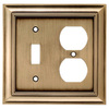 allen + roth 2-Gang Antique Brass Combination Metal Wall Plate