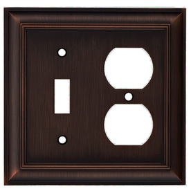 allen + roth 2-Gang Oil-Rubbed Bronze Combination Metal Wall Plate