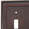 allen + roth 3-Gang Oil-Rubbed Bronze Standard Toggle Metal Wall Plate