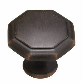 Style Selections 1-1/4-in Aged Bronze Octangular Cabinet Knob