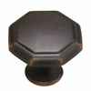 Style Selections Aged Bronze Octangular Cabinet Knob