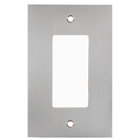allen + roth 1-Gang Satin Nickel Decorator Metal Wall Plate