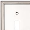 allen + roth 2-Gang Satin Nickel Standard Toggle Metal Wall Plate