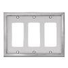 allen + roth 3-Gang Satin Nickel Decorator Metal Wall Plate