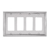 allen + roth 4-Gang Satin Nickel Decorator Metal Wall Plate
