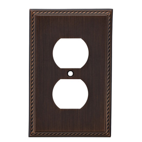 allen + roth 1-Gang Oil-Rubbed Bronze Round Wall Plate