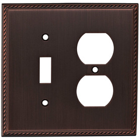 allen + roth 2-Gang Oil-Rubbed Bronze Wall Plate